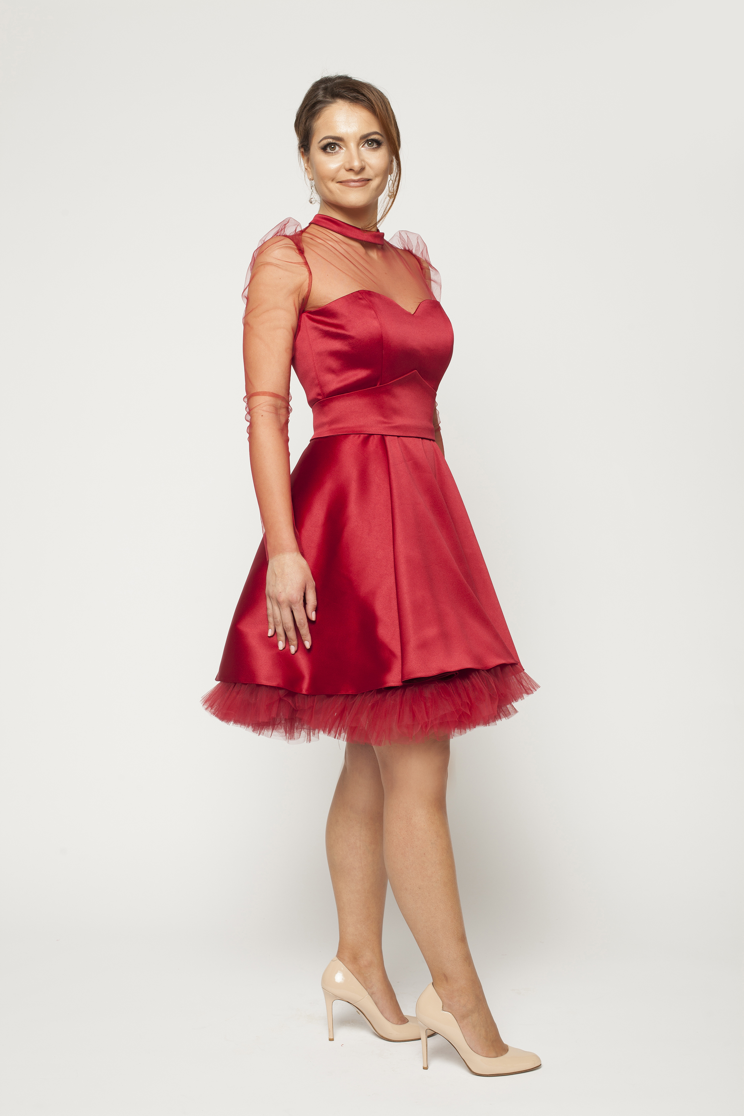 short party dress with sleeves 1